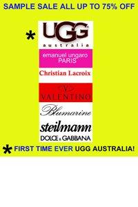 UGG Australia   Emanuel Ungaro Dolce   Gabbana Sample Sale 898a35d9db3